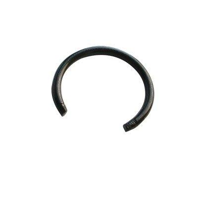 Piercing aro suelto negro sin bolas, 8mm de diámetro, 1,2mm de grosor