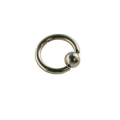 Piercing aro cerrado con bola de presion, 6mm de diámetro, 1,2mm de grosor