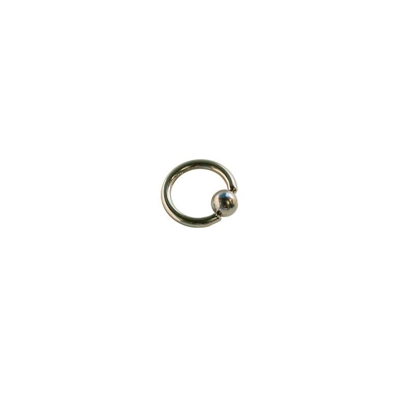 Piercing aro cerrado con bola de presion 6mm di metro 1 for Dilatacion 2mm