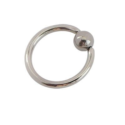 Piercing aro cerrado con bola de presion, 10mm de diámetro, 1,6mm de grosor