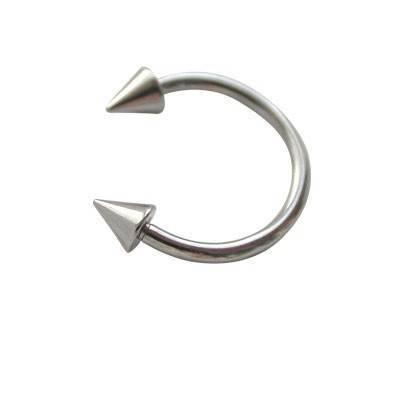 Aro abierto con dos conos, 10mm diámetro de acero quirúrgico. GPE5-2