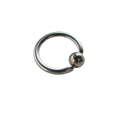 Piercing oreja, tragus, cartílago, aro cerrado con bola de presion, 8mm de diámetro