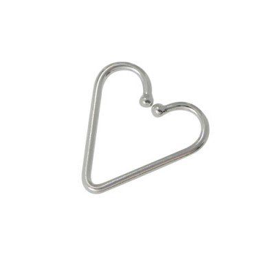 Piercing falso en forma de corazón para la oreja, tragus, helix, cartílago de plata 925