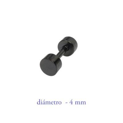 Dilatación falsa negra 4mm de diámetro, acero negro anodizado