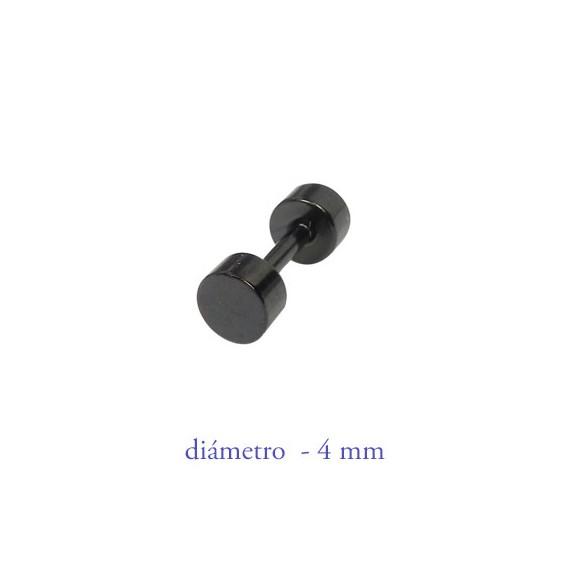 Dilataci n falsa negra 4mm de di metro acero negro anodizado for Dilatacion 2mm