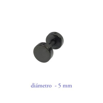 Dilatación falsa negra, 5mm de diámetro, acero negro anodizado
