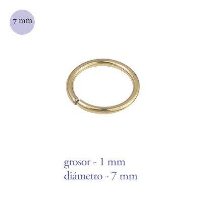 Aro nariz cerrado de acero dorado, diámetro 7mm, grosor 1mm