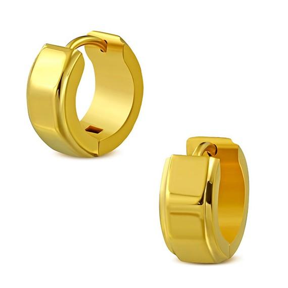 Aro de acero quirúrgico inoxidable dorado para hombre. El precio es por un aro