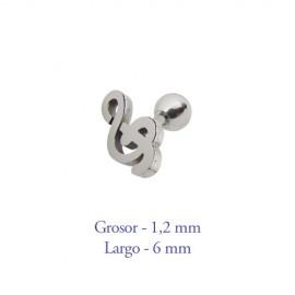 Tragus oreja, clave de sol, grosor 1,2mm