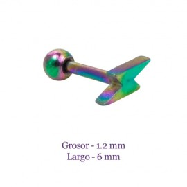Tragus oreja multicolor, forma de rayo, grosor 1,2mm