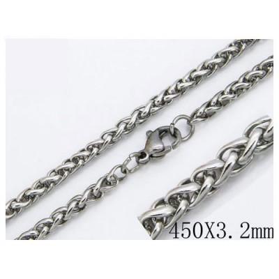 Cadena tipo cordon redondo corto unisex, acero quirúrgico de la mejor calidad, 45cm de largo y 3,2mm de ancho.