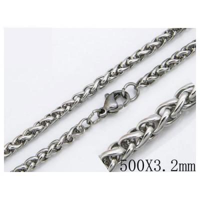 Cadena cordon redondo de acero quirúrgico de la mejor calidad, 50cm de largo y 3,2mm de ancho.