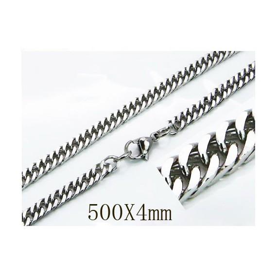 Cadena plana, unisex, acero quirúrgico inoxidable, calidad, 50cm largo y 4mm ancho.