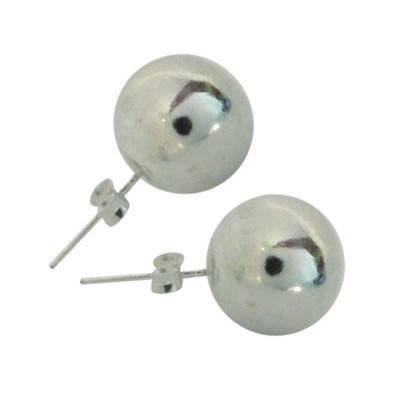 Una bola de plata, diámetro 10mm. Precio por un pendiente. OR28