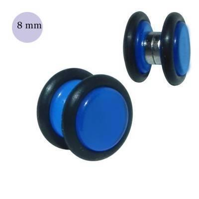 Una dilatación falsa de imán, 8mm, de plástico color azul. GM1-10