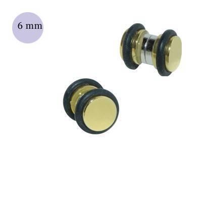 Una dilatación falsa de imán, 6mm, de acero quirúrgico dorado. GM3-11