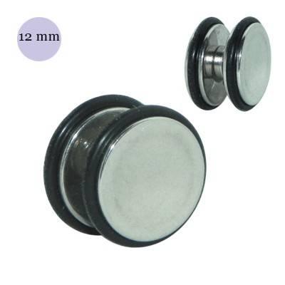 Dilatación falsa de imán de acero, 12mm diámetro, con dos anillas de goma