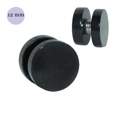 Dilatación falsa de imán negra, 12mm diámetro, acero quirúrgico