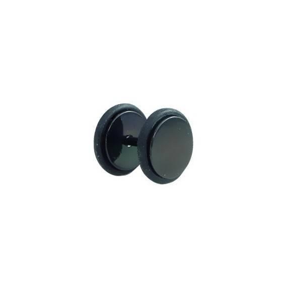 Dilatación falsa negra, 8mm de diámetro, con dos anillas de goma