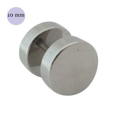 Dilatación falsa color acero, 10mm de diámetro, acero quirúrgico 316L