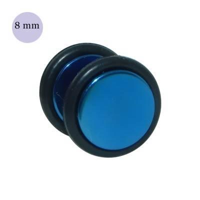 Dilatación falsa azul, 8mm de diámetro, con dos anillas de goma