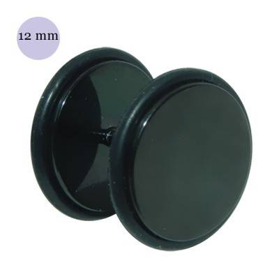 Faux écarteur, acier anodisé noir, 12mm, GX38-3