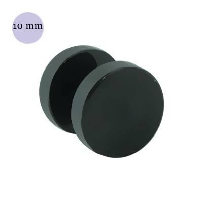 Dilatación falsa negra, 10mm de diámetro, acero negro anodizado