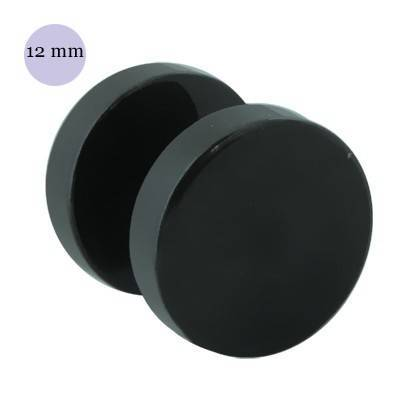 Dilatación falsa negra, 12mm de diámetro, acero negro anodizado