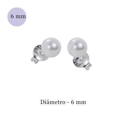 Imitations perles en argent 6mm, ORE3-1