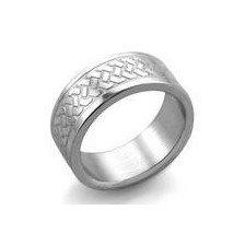 anillos hombre de acero quirúrgico