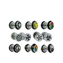 Fake steel plugs with picture